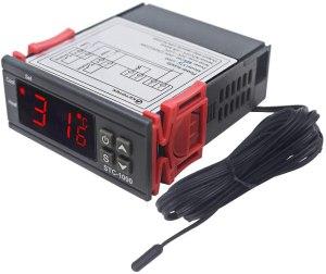 KETOTEK STC-1000 Digital Temperature Controller LED Temp Control Thermostat 110V Heating Cooling Relay NTC Sensor Incubator