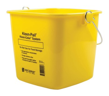 San Jamar KP196KCYL Kleen-Pail Commercial Cleaning Bucket, 6 Quart, Yellow
