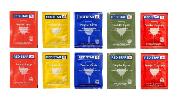 Red Star Sampler Pack Wine Yeast - Pack of 10 - with North Mountain Supply Fresh Yeast