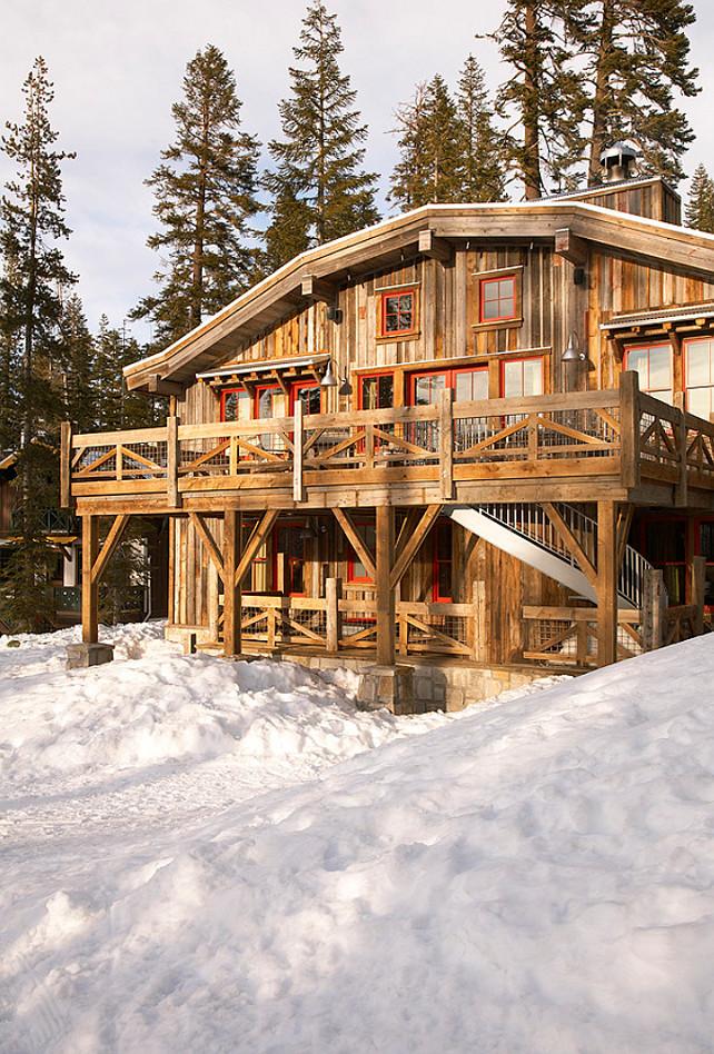 Ski Cabin With Rustic Interiors Home Bunch Interior
