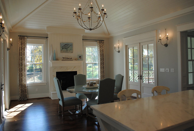 Classic Gambrel Home With Coastal Interiors Home Bunch