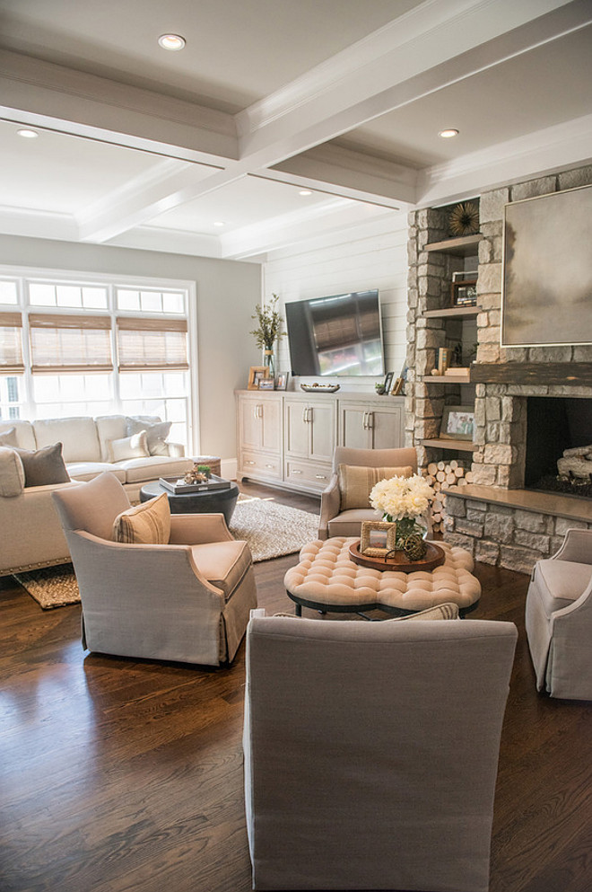 Living room with two sitting areas. Artisan Design Studio
