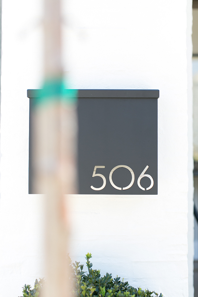 Mailbox. The mailbox is custom made out of copper from the builder's metal fabricator. Mabox with house number. Mailbox ideas. #Mailbox Patterson Custom Homes