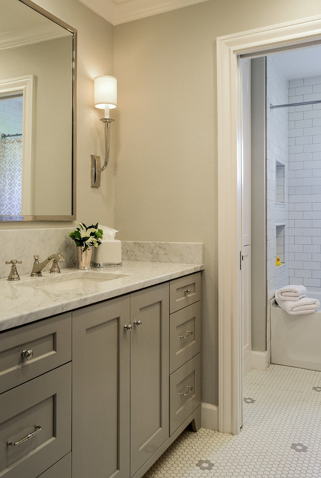 Bathroom Wall Colors With Grey Vanity