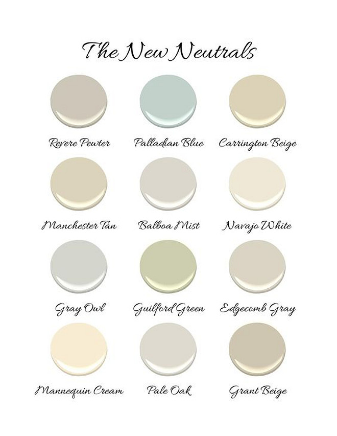 Benjamin Moore Neutral Paint Colors