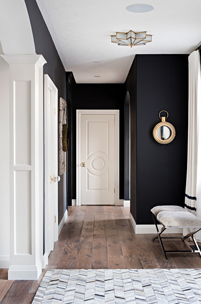 dark walls small spaces