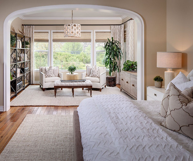 Bedroom with separated sitting area. Neutral bedroom with separated sitting area. Bedroom with separated sitting area layout. Bedroom with separated sitting area ideas. Bedroom with separated sitting area #Bedroomwithseparatedsittingarea Tracy Lynn Studio