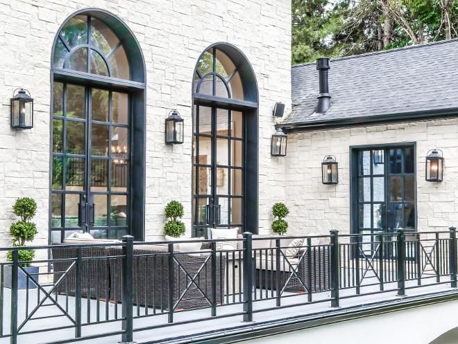 Custom Black Windows. Custom Black Windows and railing. Custom Black Windows. Custom Black Windows #CustomBlackWindows Tree Haven Homes. Danielle Loryn Design