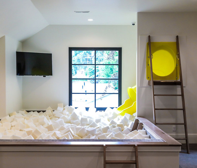 Playroom slide. Indoor slide. Playroom slide. Playroom slide #Playroomslide #indoorslide Tree Haven Homes. Danielle Loryn Design