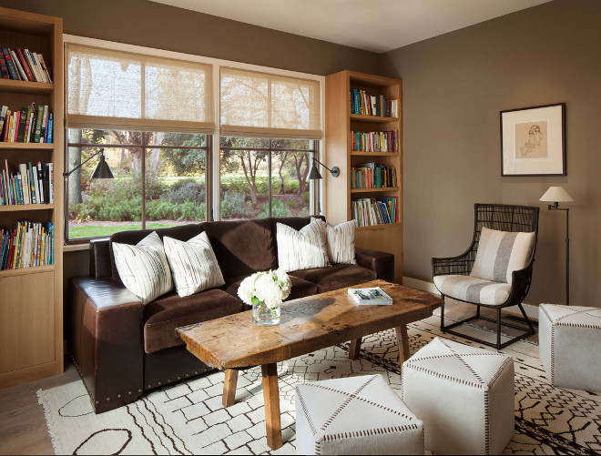 Cozy den design ideas. Jennifer Robin Interiors