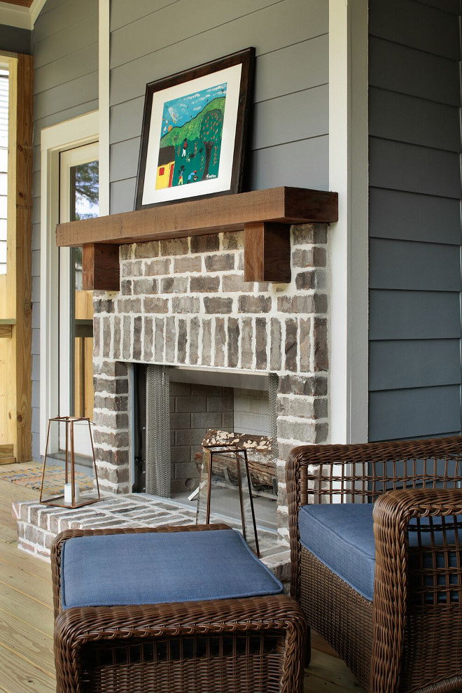 Exposed Brick Fireplace Old St. Louis Brick with Cedar mantel. Exposed Brick Fireplace Old St. Louis Brick. Exposed Brick Fireplace Old St. Louis Brick #ExposedBrick #brickFireplace #Brick Willow Homes
