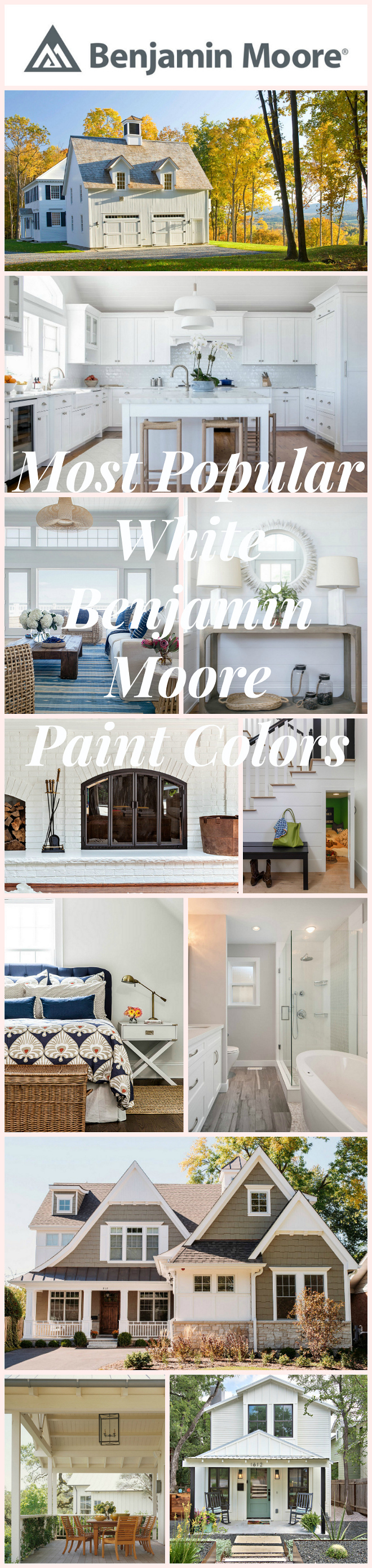 Most popular white benjamin moore paint colors