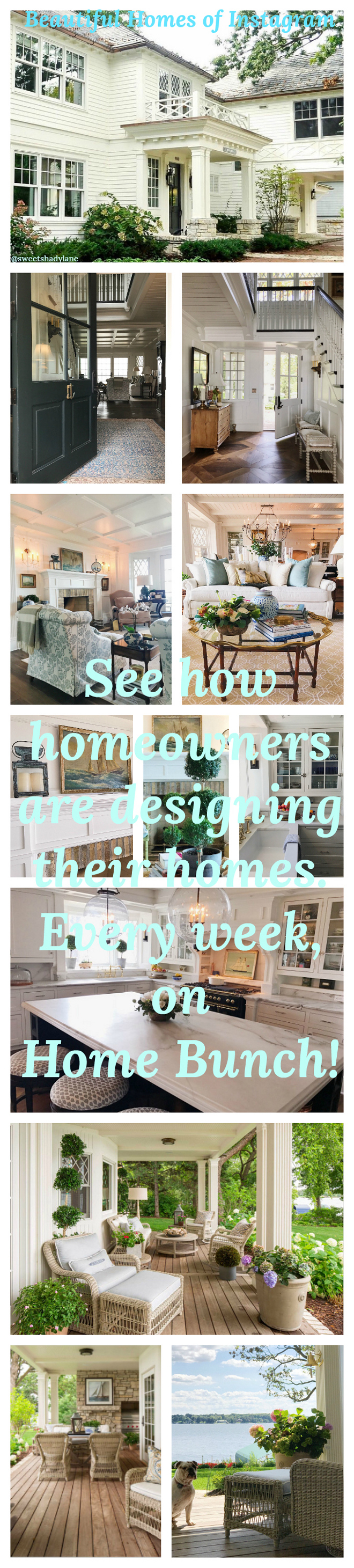 Beautiful Homes of Instagram. See how real homeowners are designing their own homes. Every week on Home Bunch. @SweetShadyLane