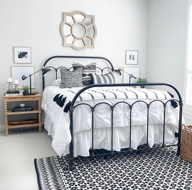 Farmhouse bedroom with metal bed. .Farmhouse bedroom with metal bed. Farmhouse bedroom with metal bed. Farmhouse bedroom with metal bed. Farmhouse bedroom with metal bed. Farmhouse bedroom with metal bed #Farmhousebedroom #metalbed Lark Interiors
