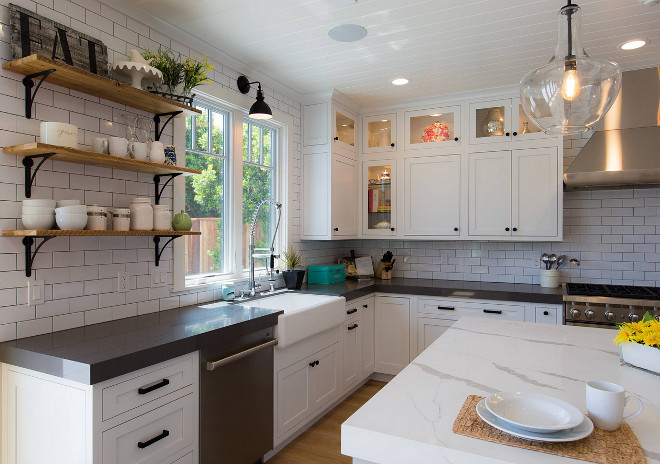 Farmhouse kitchen with counter to ceiling subway tile backsplash. Farmhouse kitchen with counter to ceiling subway tile backsplash. Farmhouse kitchen with counter to ceiling subway tile backsplash. Farmhouse kitchen with counter to ceiling subway tile backsplash. Farmhouse kitchen with counter to ceiling subway tile backsplash #Farmhousekitchen #countertoceilingsubwaytile #backsplash AK Construction
