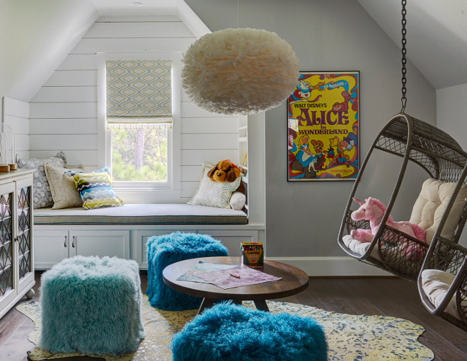 Kids Playroom. Kids Playroom Kids Playroom. Paint color is SW Passive. #Playroom Morning Star Builders