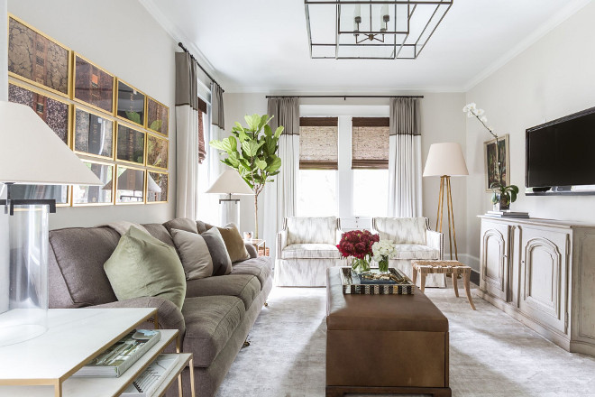 Living room decor. How to add textures and colors to a neutral living room. Marie Flanigan Interiors