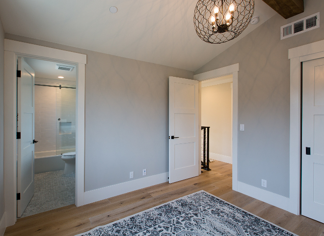 Repose Gray by Sherwin Williams. What a great grey! This grey paint color works great with any amount of light! Repose Gray by Sherwin Williams #ReposeGraybySherwinWilliams AK Construction