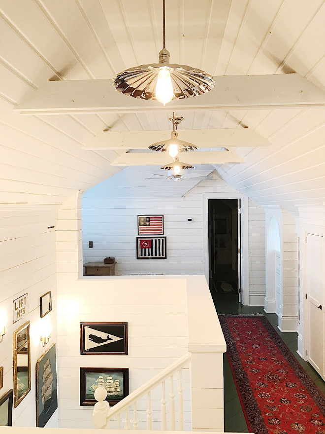 Stairwell Art. Stairwell Art. Stairwell art is an eclectic mix of clipper ships and Nantucket memorabilia. #Stairwellart Beautiful Homes of Instagram @SweetShadyLane