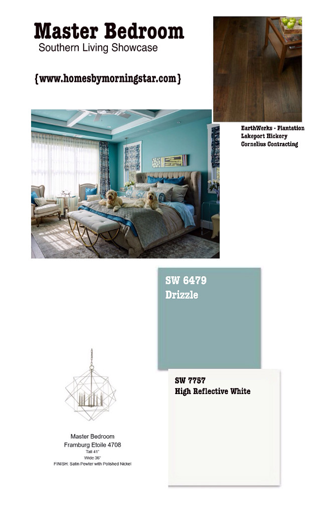 Teal bedroom paint color and decor sources. Save pin to have it handy. Morning Star Builders