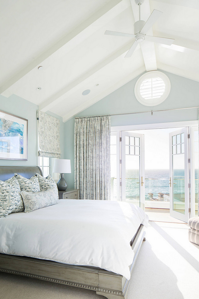 Bedroom Vaulted Ceiling Beach house bedroom with vaulted beamed ceiling Bedroom Vaulted Ceiling #BedroomVaultedCeiling #Bedroom #VaultedCeiling