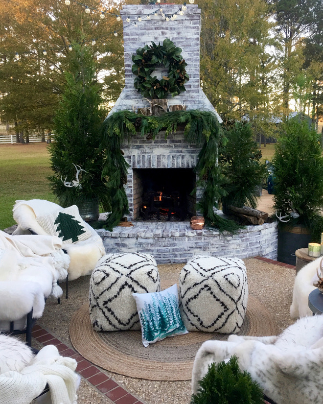 Outdoor Christmas Fireplace Decor Outdoor Christmas Fireplace Decorating ideas Outdoor Christmas Fireplace Decor