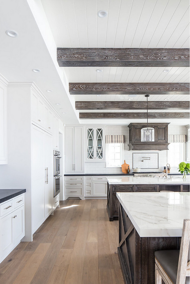 Tongue and groove and beams Kitchen ceiling features Tongue and groove and beams #Tongueandgroove #beams