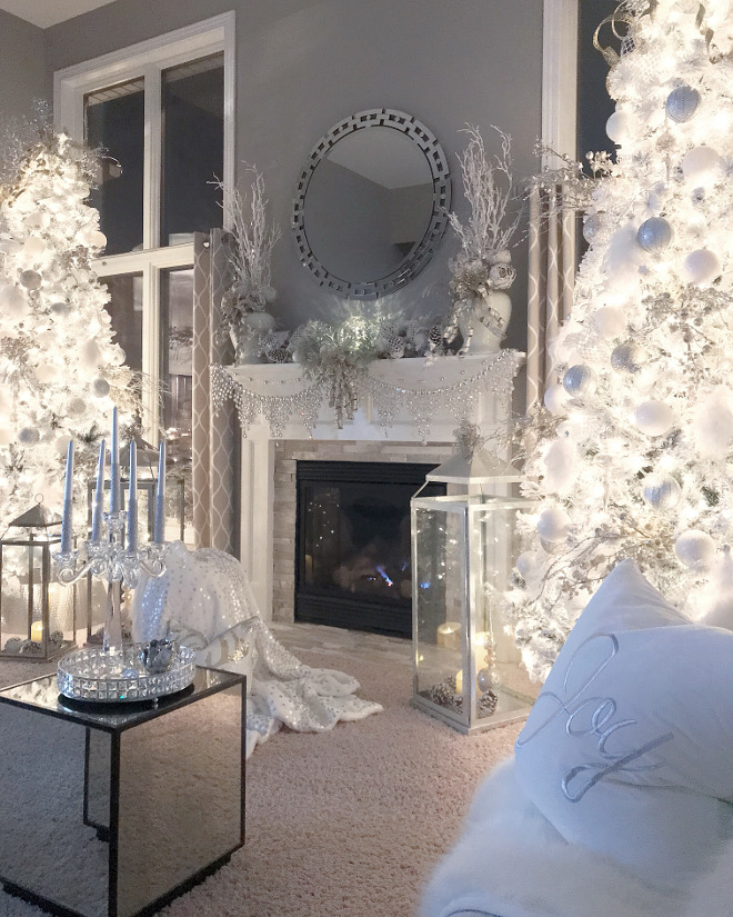 White and grey Christmas decor White and grey Christmas decor White and grey Christmas decor