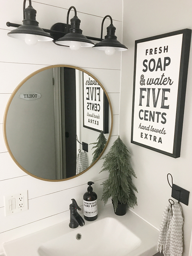 Farmhouse Bathroom Shiplap DIY Bathroom shiplap