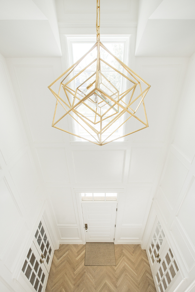 Geometric Brass pendant Foyer Geometric Brass pendant Visual Comfort Geometric Brass pendant Kelly Wearstler Cubist Gild Pendant Ceiling Light #GeometricBrasspendant #Geometricpendant