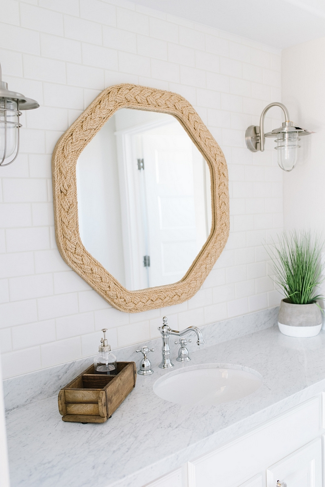 Hex Rope Mirror Braided rope mirror