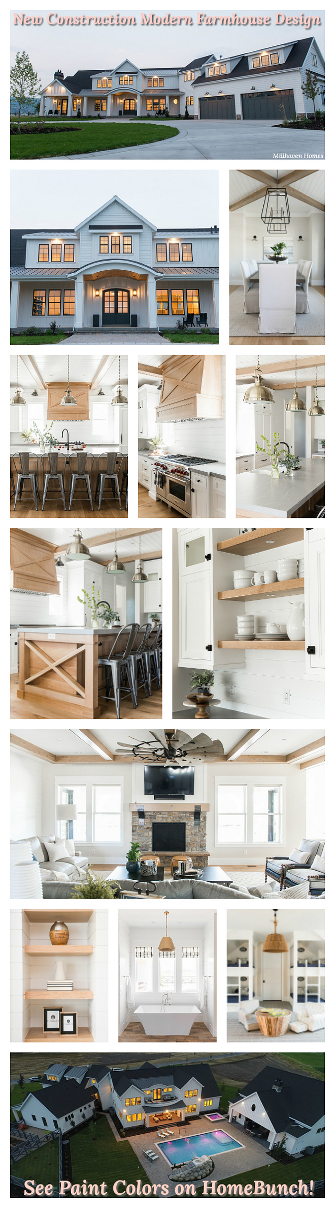 New Construction Modern Farmhouse Design Photos and Paint Colors