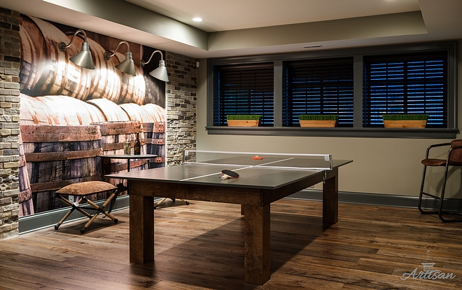 Basement Ping Pong Table Ideas
