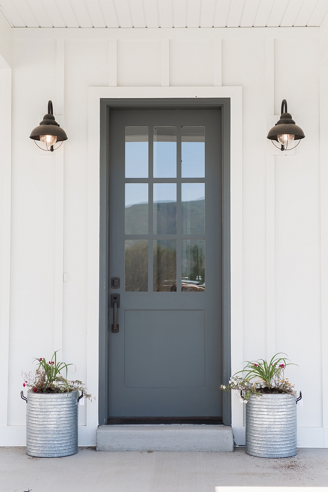 Downpipe by Farrow and Ball Grey front door paint color Downpipe by Farrow and Ball
