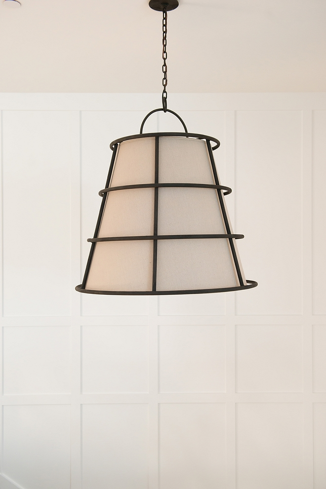 Metal and canvas cone pendant light Lighting Metal and canvas cone pendant light