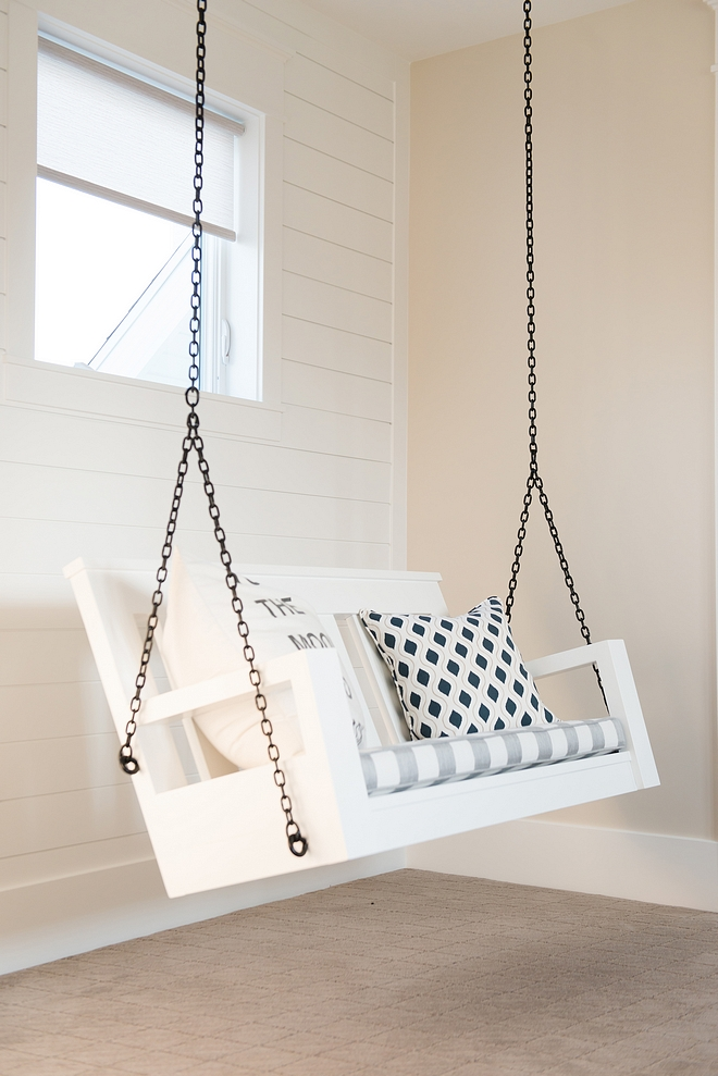 indoor porch swing in playroom Porch swing