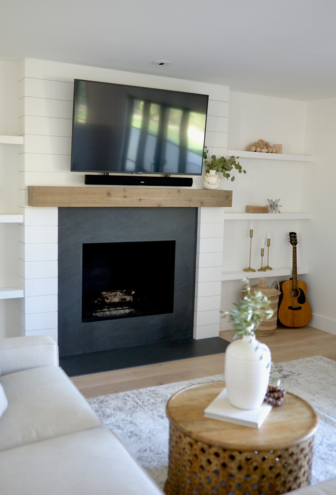 Black Granite Fireplace Surround Fireplace surround and hearth are Vermont Black Granite with a cedar mantle Black Granite Fireplace Surround Black Granite Fireplace Surround