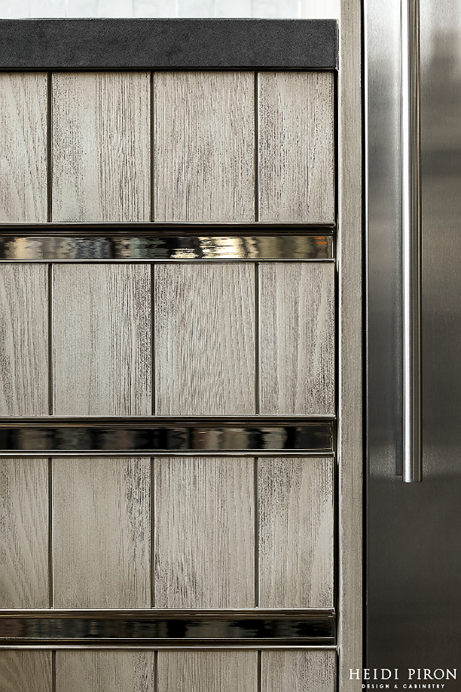 Hardware integrated polished nickel pulls Kitchen integrated polished nickel pulls