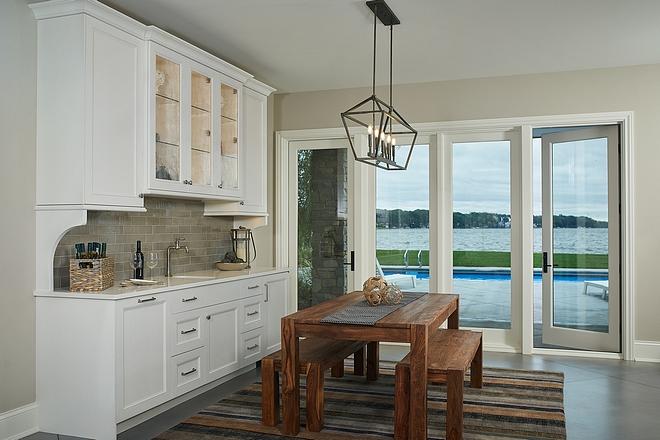 Basement Kitchen with deck access