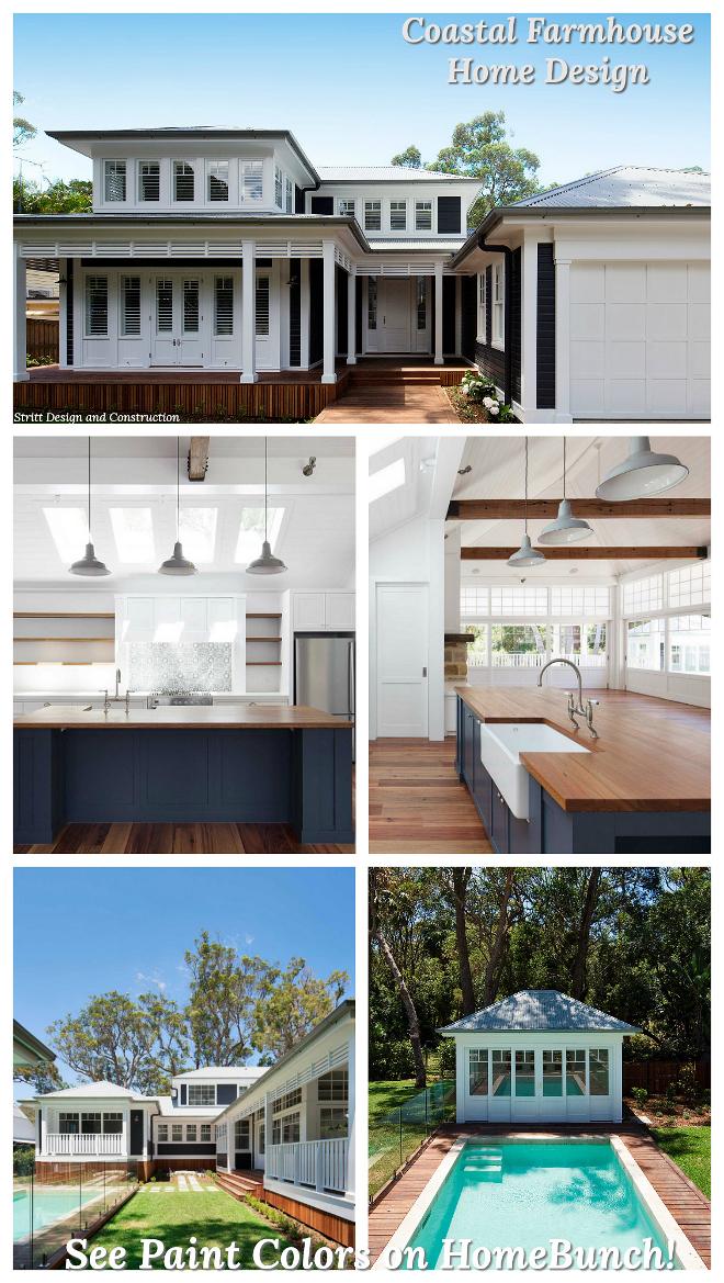 Coastal Farmhouse Home Design