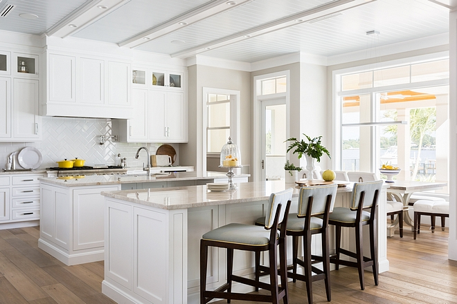 Snowflake White OC-118 by Benjamin Moore Kitchen Cabinet Paint Color Benjamin Moore