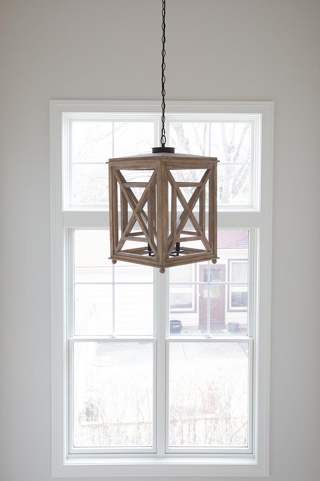 Wood Lantern Light 4-Light Lattice Chandelier, White Oak Lighting Wood Pendant Light source on Home Bunch