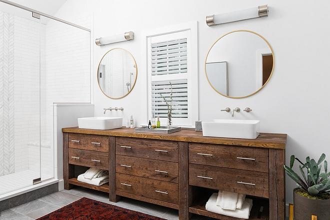 Bathroom Reclaimed Wood Barnwood Vanity The vanity is made of hand-picked reclaimed wood