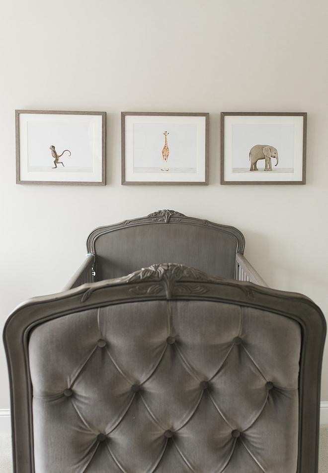 Grey crib Colette Tufted Crib - Pewter Grey