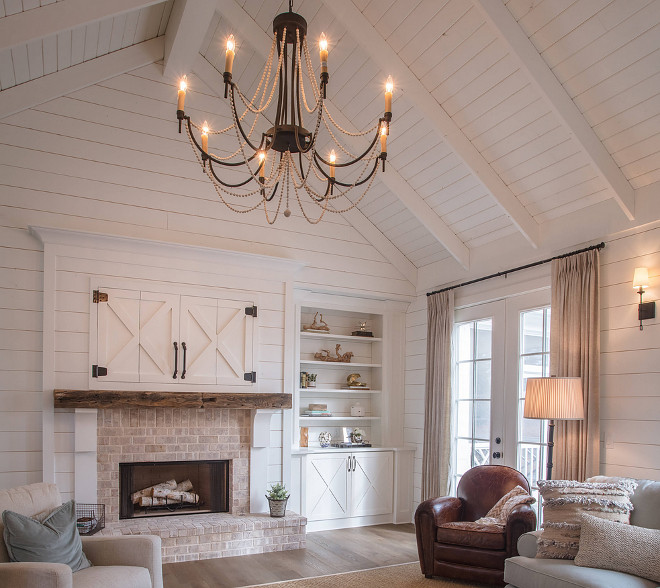 Shiplap Ceiling Shiplap Vaulted Ceiling How to get this look everything explained on Home Bunch blog