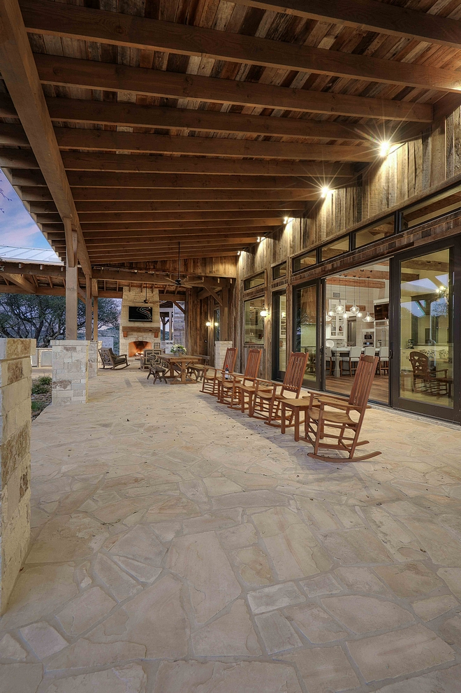 Rustic Back porch with Flagstone floor and reclaimed Barn Wood Farmhouse Farmhouses Rustic Back porch with Flagstone floor and reclaimed Barn Wood #Rusticporch #backporch #Flagstone #reclaimedBarnWood