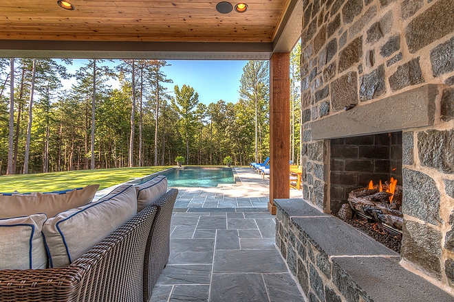 The back porch and pool patio flooring is Bluestone