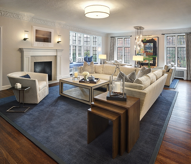 Living room With discerning seating areas, the formal living room feels tailored and quite inviting