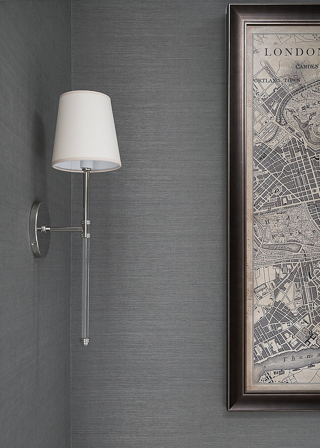 Long sconces Long sconces with acrylic and Polished Nickel finish source on Home Bunch