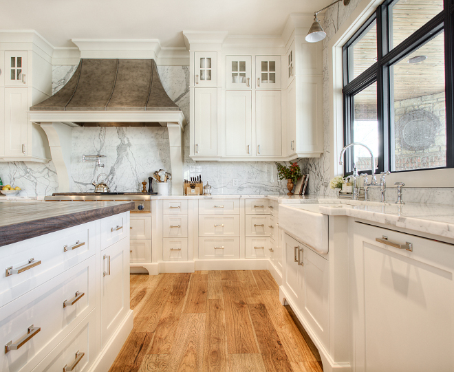 Kitchen Cabinet Details Custom built-on-site cabinetry out of MDF and paint grade woods with shaker style doors